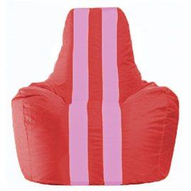 Кресло-мешок Спортинг красный - розовый С1.1-175