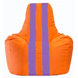 Кресло-мешок Спортинг оранжевый - сиреневый С1.1-206