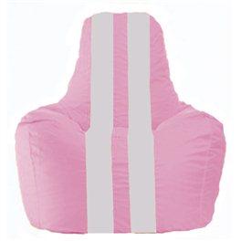Кресло-мешок Спортинг розовый - белый С1.1-189