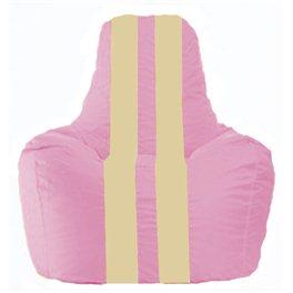 Кресло-мешок Спортинг розовый - светло-бежевый С1.1-196
