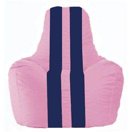 Кресло-мешок Спортинг розовый - тёмно-синий С1.1-192