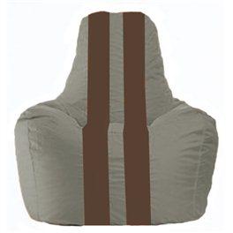Кресло-мешок Спортинг серый - коричневый С1.1-340
