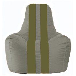 Кресло-мешок Спортинг серый - оливковый С1.1-341