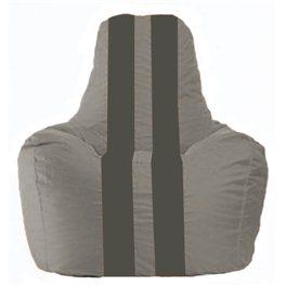 Кресло-мешок Спортинг серый - тёмно-серый С1.1-351