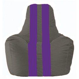 Кресло-мешок Спортинг тёмно-серый - фиолетовый С1.1-370