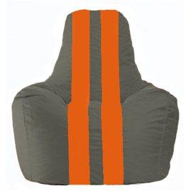Кресло-мешок Спортинг тёмно-серый - оранжевый С1.1-363