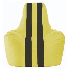 Кресло-мешок Спортинг жёлтый - чёрный С1.1-245
