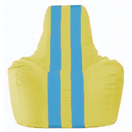 Кресло-мешок Спортинг жёлтый - голубой С1.1-263