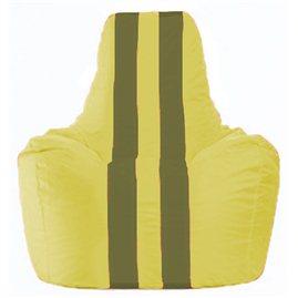 Кресло-мешок Спортинг жёлтый - оливковый С1.1-259