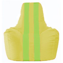 Кресло-мешок Спортинг жёлтый - салатовый С1.1-256