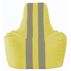 Кресло-мешок Спортинг жёлтый - серый С1.1-465