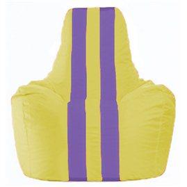 Кресло-мешок Спортинг жёлтый - сиреневый С1.1-253