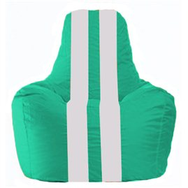 Кресло-мешок Спортинг бирюзовый - белый С1.1-315