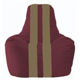 Кресло-мешок Спортинг бордовый - бежевый С1.1-301