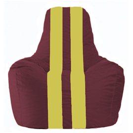 Кресло-мешок Спортинг бордовый - жёлтый С1.1-313