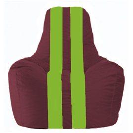 Кресло-мешок Спортинг бордовый - салатовый С1.1-305