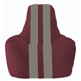 Кресло-мешок Спортинг бордовый - серый С1.1-303