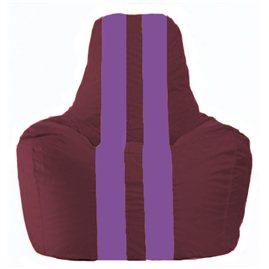 Кресло-мешок Спортинг бордовый - сиреневый С1.1-302