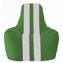 Кресло-мешок Спортинг зелёный - белый С1.1-244