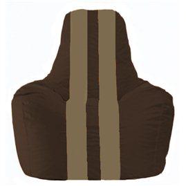 Кресло-мешок Спортинг коричневый - бежевый С1.1-330