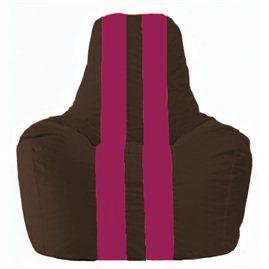 Кресло-мешок Спортинг коричневый - лиловый С1.1-331