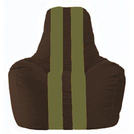 Кресло-мешок Спортинг коричневый - оливковый С1.1-323