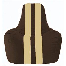 Кресло-мешок Спортинг коричневый - светло-бежевый С1.1-326