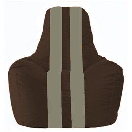 Кресло-мешок Спортинг коричневый - серый С1.1-327