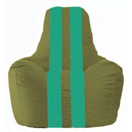 Кресло-мешок Спортинг оливковый - бирюзовый С1.1-230