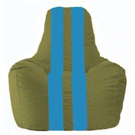 Кресло-мешок Спортинг оливковый - голубой С1.1-229