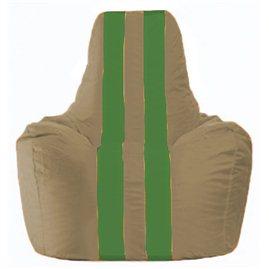 Кресло-мешок Спортинг бежевый - зелёный С1.1-94