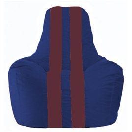 Кресло-мешок Спортинг синий - бордовый С1.1-123