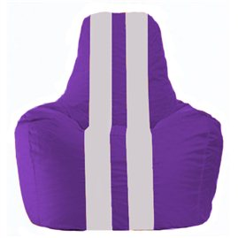 Кресло-мешок Спортинг фиолетовый - белый С1.1-36