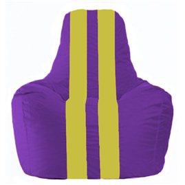 Кресло-мешок Спортинг фиолетовый - жёлтый С1.1-35
