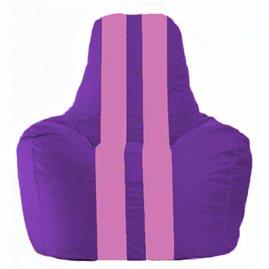 Кресло-мешок Спортинг фиолетовый - розовый С1.1-32