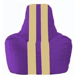 Кресло-мешок Спортинг фиолетовый - светло-бежевый С1.1-73