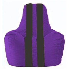 Кресло-мешок Спортинг фиолетовый - чёрный С1.1-67