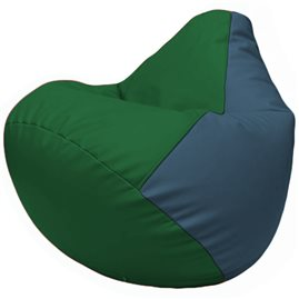 Кресло-мешок Груша Г2.3-0103 зелёный, синий