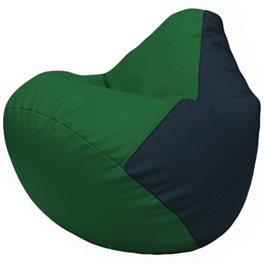 Кресло-мешок Груша Г2.3-0115 зелёный, синий