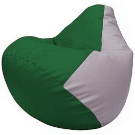 Кресло-мешок Груша Г2.3-0125 зелёный, сиреневый