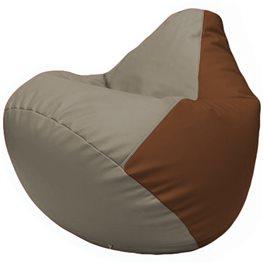 Кресло-мешок Груша Г2.3-0207 светло-серый, коричневый