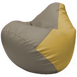 Кресло-мешок Груша Г2.3-0208 светло-серый, охра