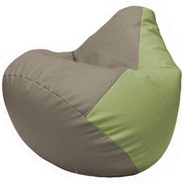 Кресло-мешок Груша Г2.3-0219 светло-серый, оливковый