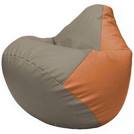 Кресло-мешок Груша Г2.3-0220 светло-серый, оранжевый