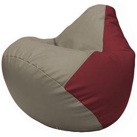 Кресло-мешок Груша Г2.3-0221 светло-серый, бордовый