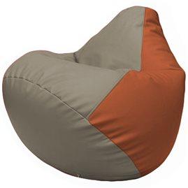 Кресло-мешок Груша Г2.3-0223 светло-серый, оранжевый