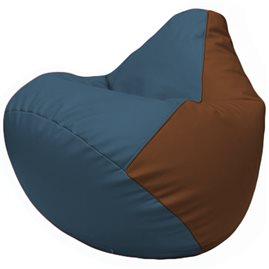Кресло-мешок Груша Г2.3-0307 синий, коричневый