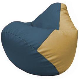 Кресло-мешок Груша Г2.3-0313 синий, бежевый