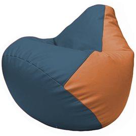Кресло-мешок Груша Г2.3-0320 синий, оранжевый