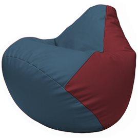 Кресло-мешок Груша Г2.3-0321 синий, бордовый